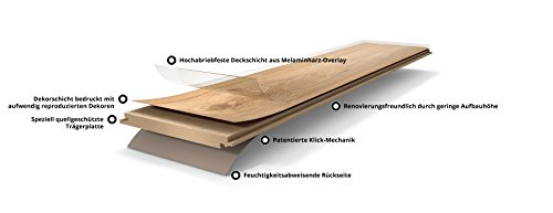 PARADOR Laminat Walnuss Holz Struktur Landhausdiele Klick-Laminat 2,991 m²