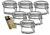gouveo 6er Set Bügelgläser 120 ml Rund incl. 28-seitige Flaschendiscount-Rezeptbroschüre Vorratsgläser mit Bügelverschluss